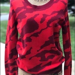 CAbi Sakura red sweater